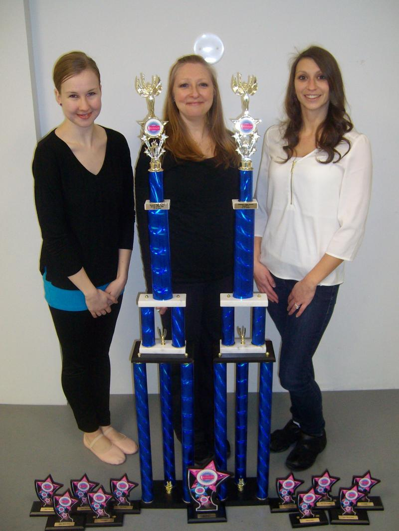 winners dance competition studio trophy